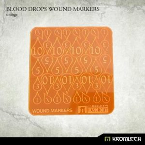 Kromlech   Status & Wound Markers Blood Drops Wound Markers [orange] - KRGA043 - 5902216115033