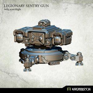 Kromlech   Legionary Model Kits Legionary Sentry Gun: Twin Searchlight (1) - KRM120 - 5902216114814