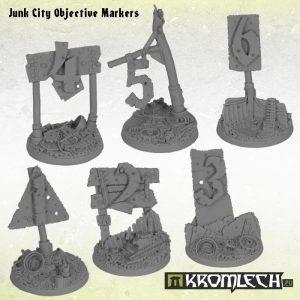 Kromlech   Junk City Bases Junk City Objective Markers (6) - KRRB046 - 5902216113282