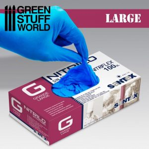 Green Stuff World   Airbrushes & Accessories Nitrile Gloves - Large - 8437001266920ES - 8437001266920