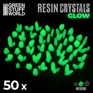 Green Stuff World   Green Stuff World Conversion Parts GREEN GLOW Resin Crystals - Medium - 8436574508918ES - 8436574508918