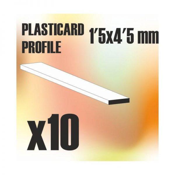 Green Stuff World   Plasticard ABS Plasticard - Profile PLAIN 4.5mm - 8436554366224ES - 8436554366224