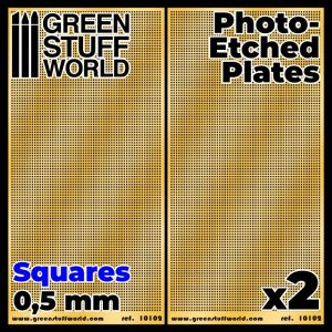 Green Stuff World   Etched Brass Photo-etched Plates - Small Squares - 8436574506013ES - 8436574506013