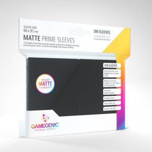 Gamegenic   SALE! Gamegenic Matte Prime Sleeves Black (100 pack) - GGS11030ML - 4251715402436