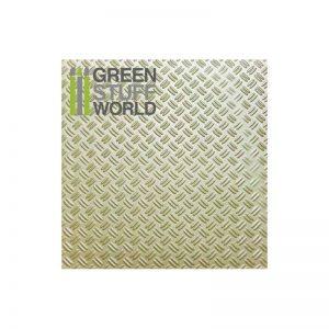 Green Stuff World   Plasticard ABS Plasticard - Thread  DOUBLE DIAMOND Textured Sheet - A4 - 8436554361014ES - 8436554361014