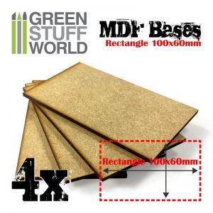 Green Stuff World   MDF Bases MDF Bases - Rectangle 100x60mm - 8435646501611ES - 8435646501611