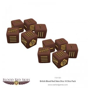 Warlord Games (Direct) Blood Red Skies  Blood Red Skies Blood Red Skies: British Dice - 773411001 - 5060393707110