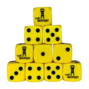 Outpost   Outpost Dice Outpost Dice: Yellow (16mm) Bag of 10 - OPDICEYELLOW10 - OPYELL10