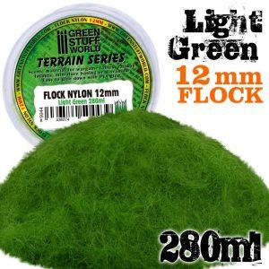 Green Stuff World   Sand & Flock Static Grass Flock 12mm - Light Green - 280 ml - 8436574504439ES - 8436574504439
