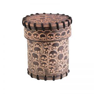 Q-Workshop   Q-Workshop Dice Skull Beige Leather Dice Cup - CSKU124 - 5907699493500