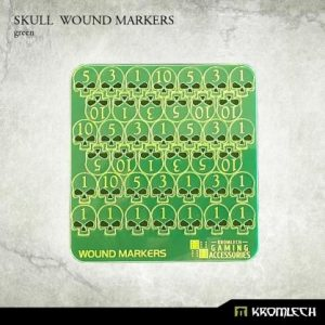 Kromlech   Status & Wound Markers Skull Wound Markers [green] - KRGA044 - 5902216115118