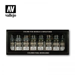 Vallejo   Paint Sets Vallejo Game Color - Washes Set (x8) - VAL73998 - 8429551739986