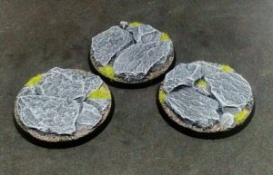 Baker Bases   Rocky Outcrop Rocky Outcrop: 50mm Round Bases (3) - CB-RK-01-50M - CB-RK-01-50M
