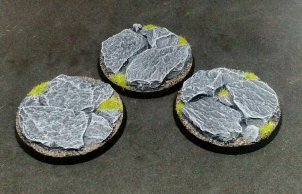 Baker Bases   Rocky Outcrop Rocky: 50mm Round Bases (3) - CB-RK-01-50M - CB-RK-01-50M
