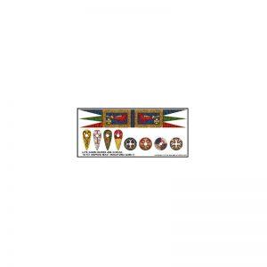 Gripping Beast SAGA  SAGA Late Saxon Banner & Shield Transfers - LBMS SAGA004 -