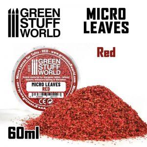 Green Stuff World   Lichen & Foliage Micro Leaves - Red mix - 8435646501123ES - 8435646501123
