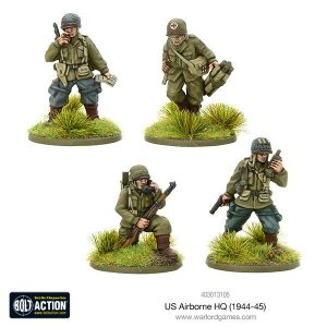 Warlord Games Bolt Action  United States of America (BA) US Airborne HQ (1944-45) - 403013105 - 5060393709145