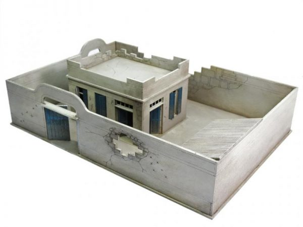 Warlord Games   Warlord Games Terrain Damaged Compound and House Set - N108 - 5060572501409