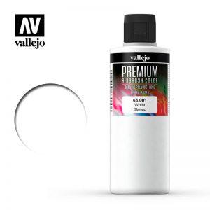Vallejo   Premium Airbrush Colour AV Vallejo Premium Color - 200ml - Opaque White - VAL63001 - 8429550000000