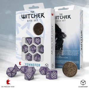 Q-Workshop   The Witcher Dice The Witcher Dice Set: Yennefer - Lilac and Gooseberries - SWYE1B - 5907699496051