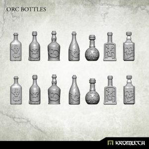 Kromlech   Basing Extras Orc Bottles (14) - KRBK015 - 5902216115293