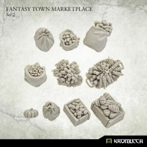 Kromlech   Kromlech Terrain Fantasy Town Marketplace 2 (10) - KRBK064 - 5908291070465