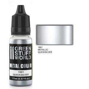 Green Stuff World   Acrylic Metallics Metallic Paint QUICKSILVER - 8436574502206ES - 8436574502206