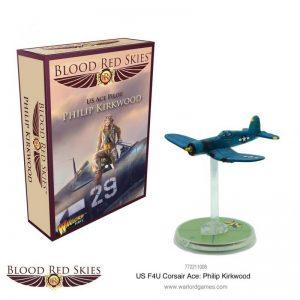 Warlord Games Blood Red Skies  Blood Red Skies Blood Red Skies: Corsair Ace - Philip Kirkwood - 772211008 - 5060572502949