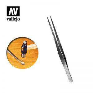 Vallejo   Vallejo Tools AV Vallejo Tools - Straight Tip S/Steel Tweezers 175mm - VALT12008 - 8429551930529