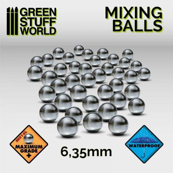 Green Stuff World   Green Stuff World Tools Mixing Paint Steel Bearing Balls in 6.35mm - 8436554365296ES - 8436554365296