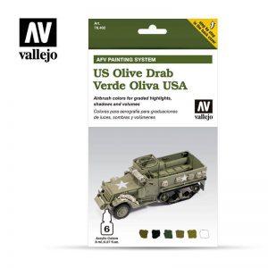 Vallejo   Model Air AV Armour Set - AFV Army Olive Drab - VAL78402 - 8429551784023