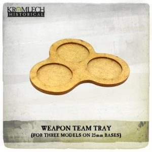 Kromlech   Movement Trays Weapon Team Tray (for three models on 25mm round bases) 5x - KHBAS008 - 5902216118294