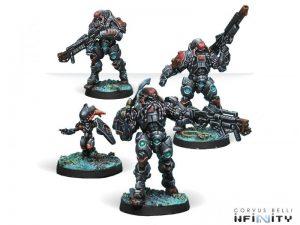 Corvus Belli Infinity  Combined Army Suryats, Assault Heavy Infantry - 280679-0616 - 2806790006165