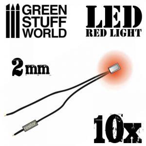 Green Stuff World   Lighting & LEDs Red LED Lights - 2mm - 8436554363858ES - 8436554363858