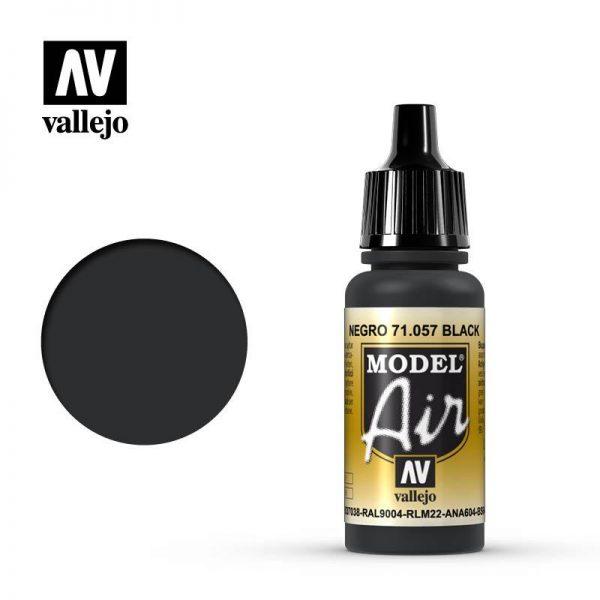 Vallejo   Model Air Model Air: Black - VAL057 - 8429551710572