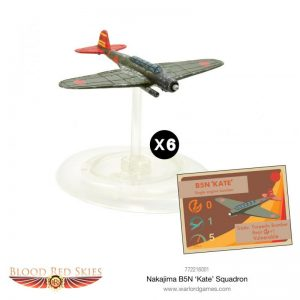 Warlord Games (Direct) Blood Red Skies  Blood Red Skies Blood Red Skies: Japanese Nakajima B5N 'Kate' Squadron - 772216001 -