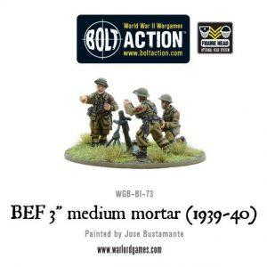 Warlord Games Bolt Action  Great Britain (BA) BEF 3in medium mortar (1939-40) - WGB-BI-73 - 5060200848494