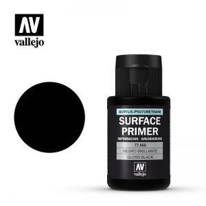 Vallejo   Metal Colour Primer: Gloss Black 32ml - VAL77660 - 8429551776608