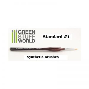 Green Stuff World   Synthetic Brushes Brushes Standard 1 Synthetic - 8436554360505 - GSWSSYNTH1