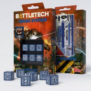 Q-Workshop   Q-Workshop Dice Battletech House Steiner D6 Dice set (6) - SBST82 - 5907699493135