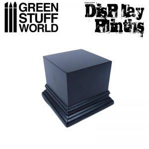 Green Stuff World   Display Plinths Square Top Display Plinth 6x6 cm - Black - 8436574501735ES - 8436574501735