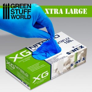Green Stuff World   Airbrushes & Accessories Nitrile Gloves - Extra Large - 8437001266937ES - 8437001266937