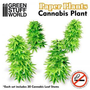 Green Stuff World   Plants & Flowers Paper Plants - Cannabis - 8436574509472ES - 8436574509472