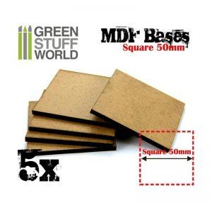 Green Stuff World   Plain Bases MDF Bases - Square 50 mm - 8436554366446ES - 8436554366446