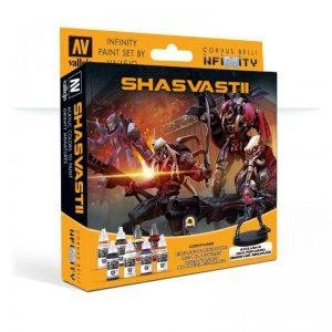 Vallejo   Combined Army Model Color Set: Shasvastii (+Exclusive Miniature) - CORVUS-70241 - 111111
