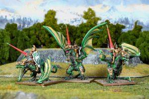 Mantic Kings of War  Elf Armies Elf Drakon Riders Regiment - MGKWE403 - 5060469666921