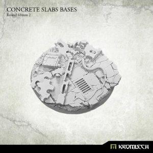 Kromlech   Concrete Slabs Bases Concrete Slabs Round 60mm Pattern 2 (1) - KRRB059 -