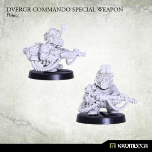 Kromlech   Dvergr Model Kits Dvergr Commando Special Weapon: Flamer (1) - KRM121 - 5902216114821