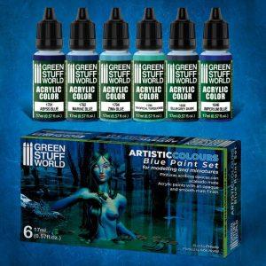 Green Stuff World   Paint Sets Paint Set - Blue - 8436574506150ES - 8436574506150