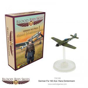 Warlord Games Blood Red Skies  Blood Red Skies Blood Red Skies: Fw 190 Dora Ace Hans Dortenmann - 772211005 - 5060572502758